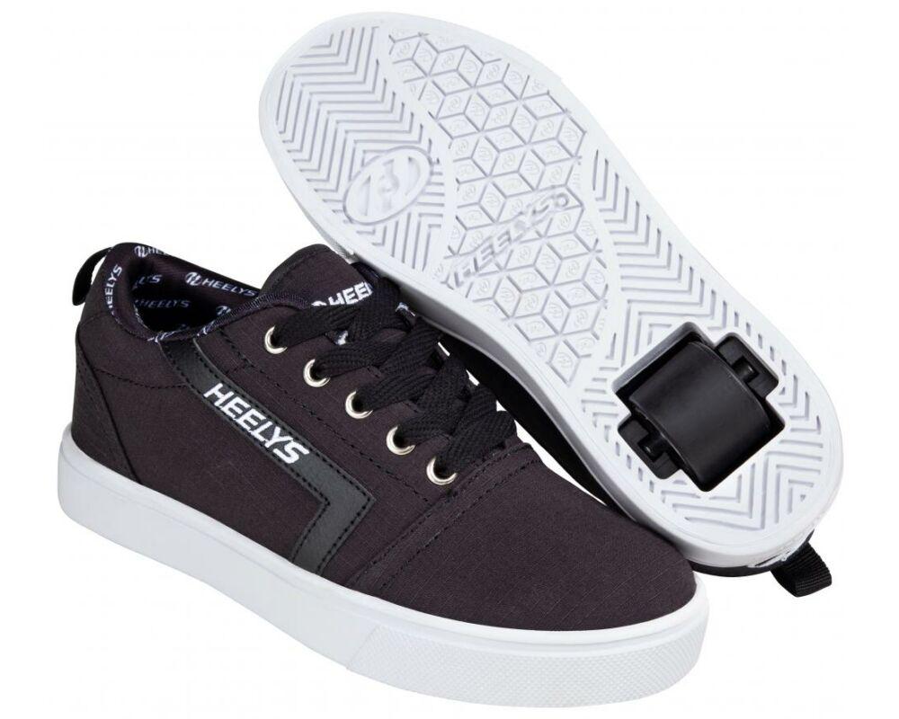 1977a250427e Heelys GR8 Pro black/white rip stop - Gurulós cipők
