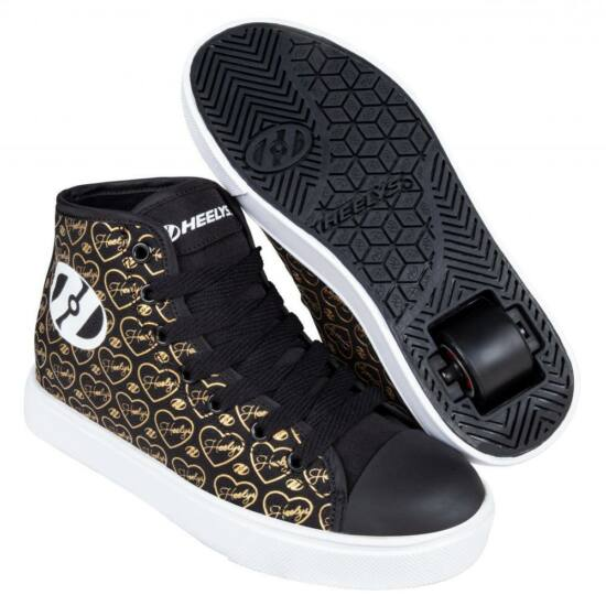 Heelys Veloz black/gold/hearts