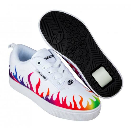 Heelys Pro 20 white/rainbow flames